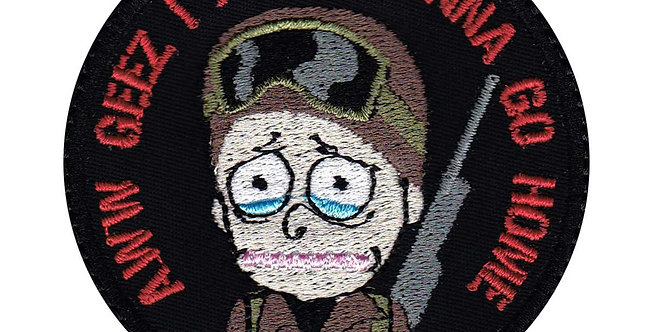 Morty Geez Go Home Rick and Morty - Velcro Back