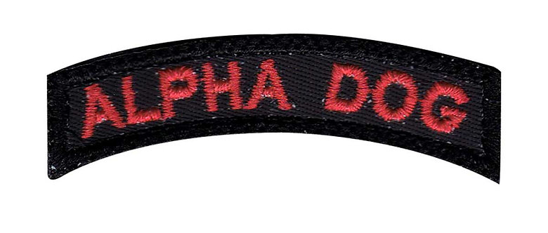 Alpha Dog Small Rocker - Velcro Back