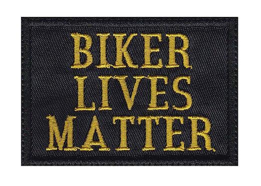 Biker Lives Matter Motorcycle Pride Funny - Velcro Back