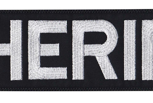 Vest Jacket Sheriff Name Plate Id Tag - Glue Back To Sew On
