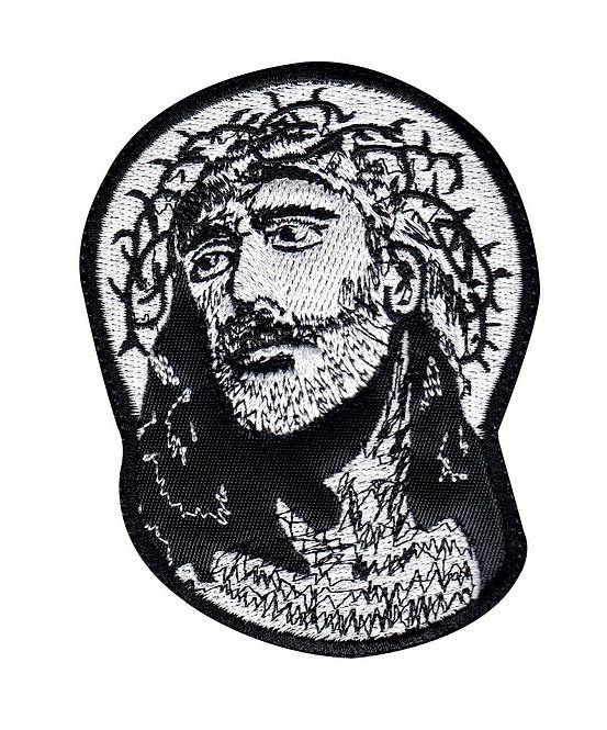 Jesus Looks Up Religious - Glue Back To Sew On