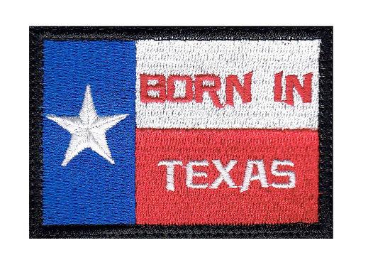 Born In Texas Flag - Velcro Back