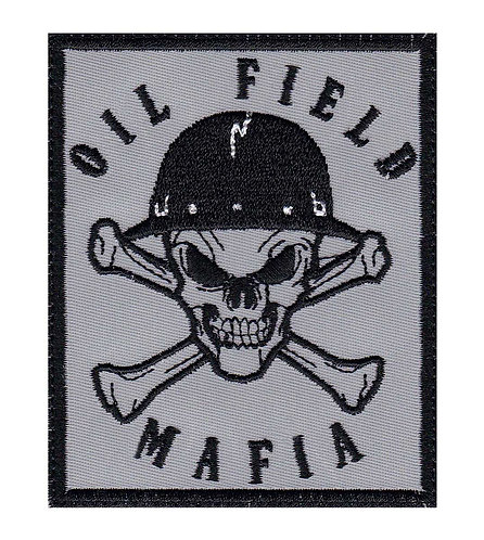 Oil Field Mafia Skull & Cross Bones Oil Rig Roughneck - Velcro Back