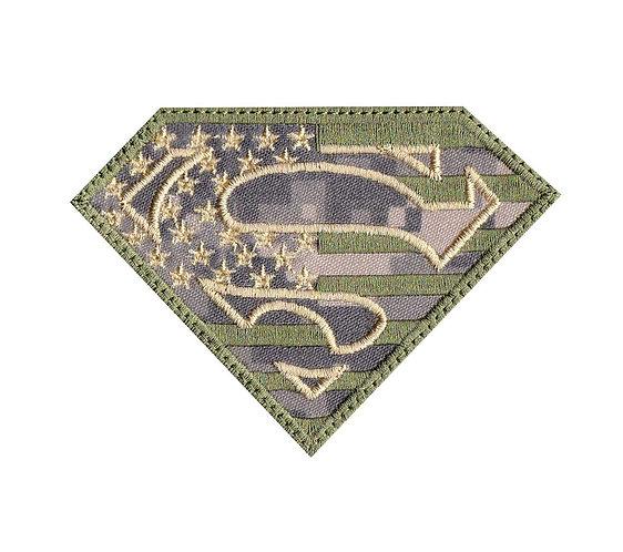 Superman US Flag Camo Military - Velcro Back