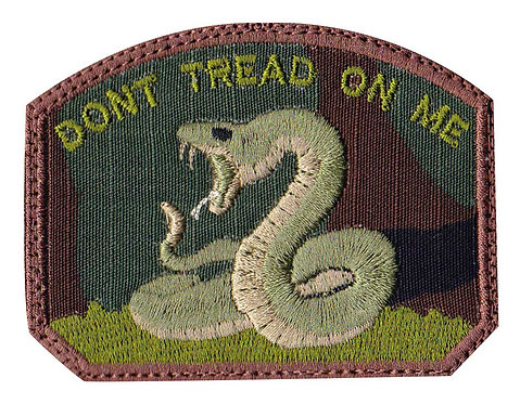 Don't Tread On Me Snake - Velcro Back