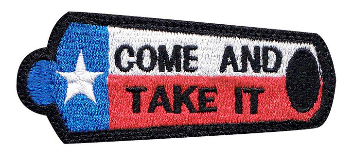 Texas Come And Take It Canon Flag - Velcro Back