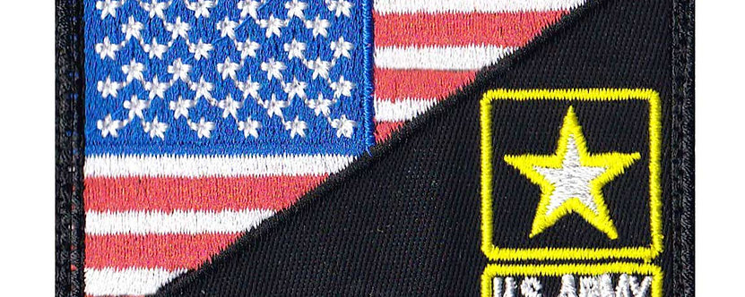 Us Army Star Half Flag - Velcro Back