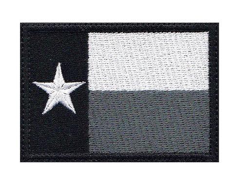 Texas Lone Star Full Flag Dark - Velcro Back
