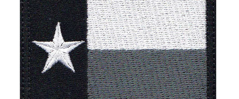 Texas Lone Star Full Flag Dark - Velcro Back