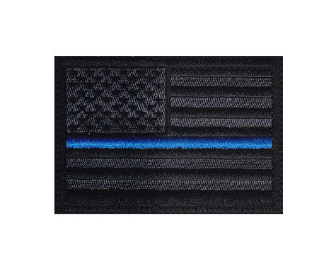 Blue Line Police Flag - Velcro Back