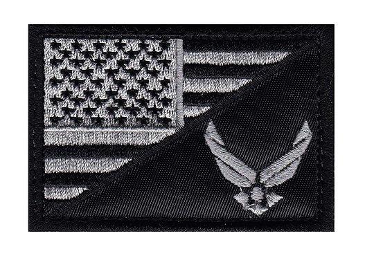Air Force Half US Flag - Velcro Back