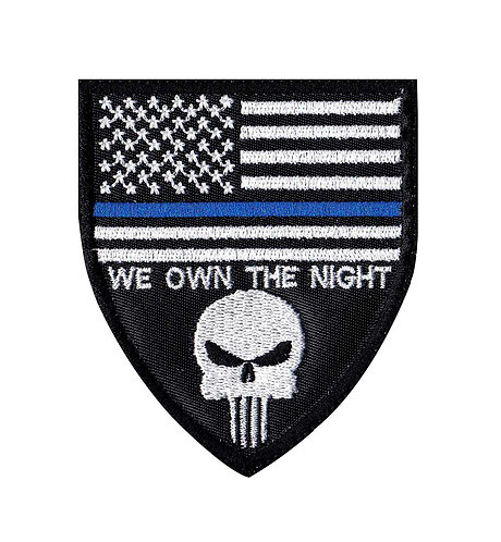 We Own The Night Police Line - Velcro Back