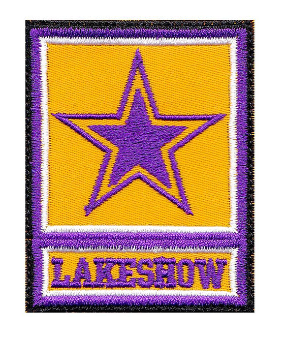 Lakeshow Lakers Basketball Army Star Logo Parody Los Angeles - Glue Back To Sew