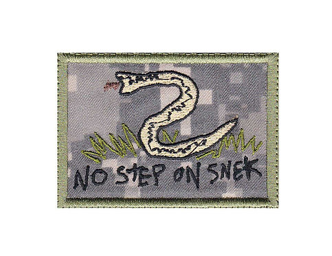 Snek No Step On Snake Don't Tread Funny Velcro - Velcro Back