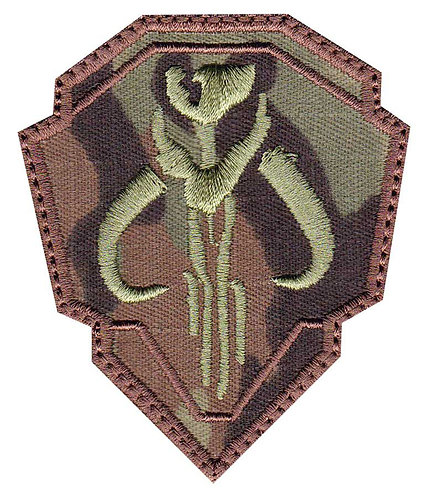 Mandalorian Mythosaur Skull Crest Shield - Glue Back To Sew On