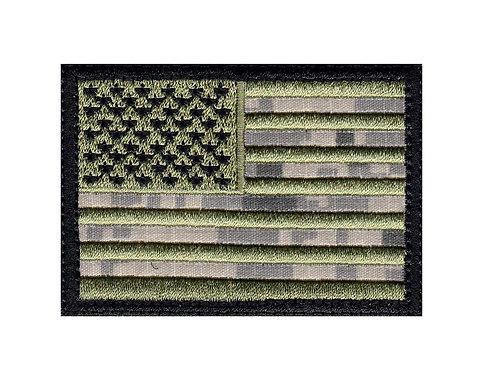 United States Flag Us Flagblack - Velcro Back