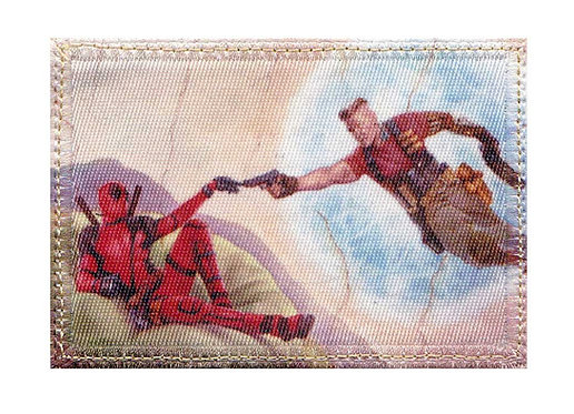 Deadpool Cable Renaissance Art - Glue Back To Sew On