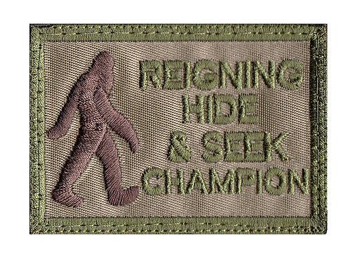 Big Foot Hide & Seek Champion - Velcro Back