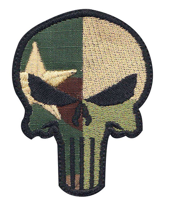 Punisher Skull Texas Flag - Velcro Back
