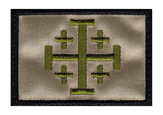 Righteous Christian Cross Square - Velcro Back