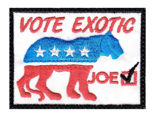 Tiger Joe Lion Exotic Vote - Velcro Back