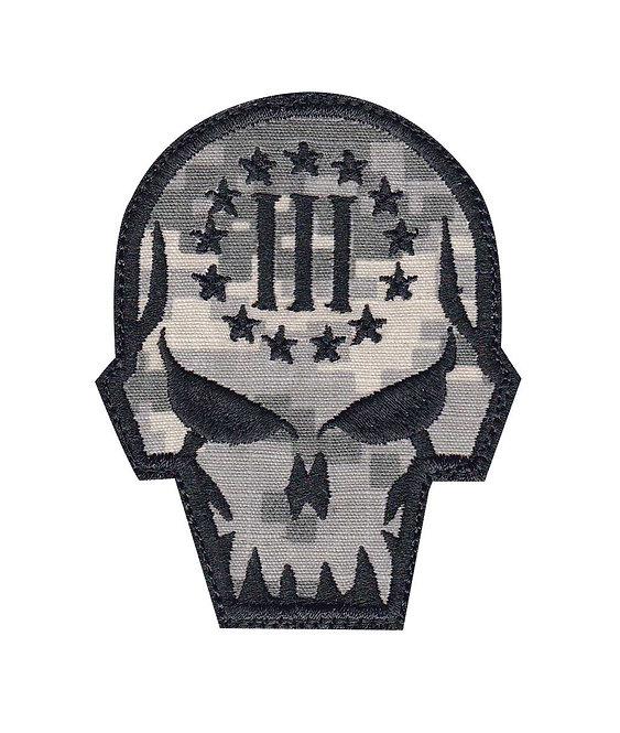 3 Percent Sharp Skull Evil - Velcro Back