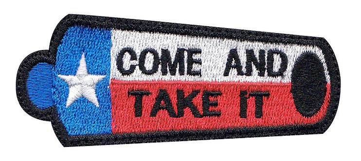 Texas Come And Take It Canon Flag - Glue Back To Sew On