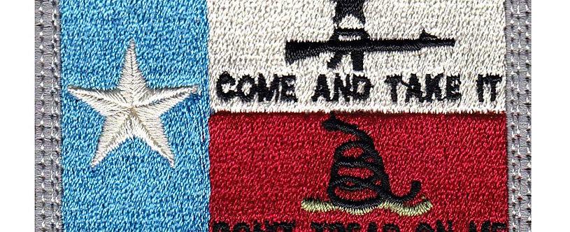 Texas 3 Percent Don't Tread Come & Take It - Velcro Back