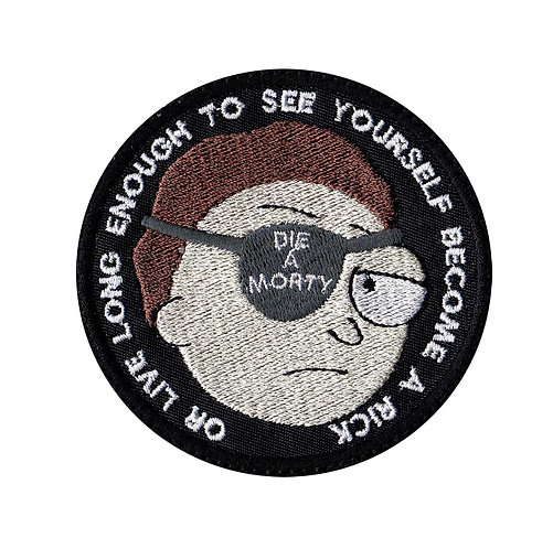 Rick And Morty Live Long Enough Evil Morty - Glue Back To Sew On