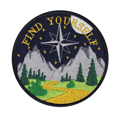 Find Yourself Night Hiking Camping Outdoors Exploring - Velcro Back