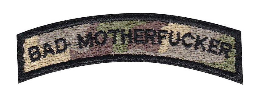 Bad Motherfucker Small Rocker - Velcro Back