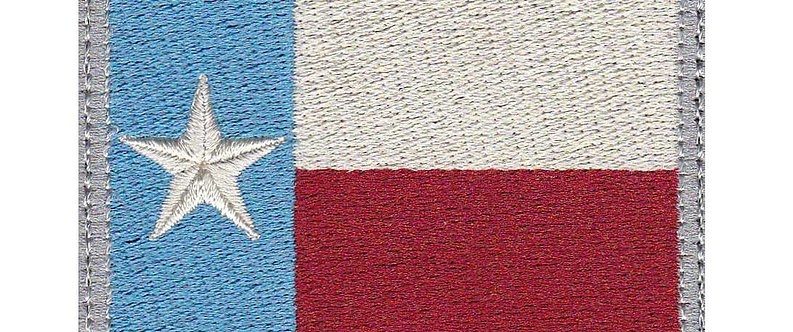 Texas Lone Star Full Flag Subdued - Velcro Back