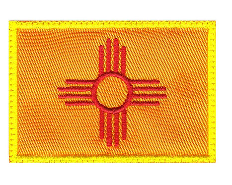 New Mexico Zia Symbol State Flag - Glue Back To Sew On