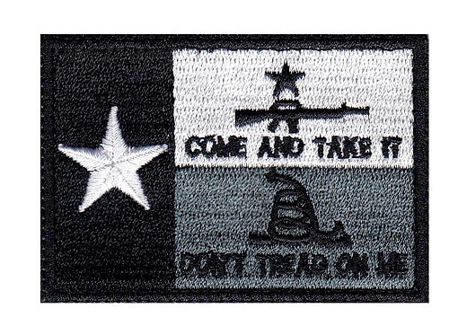 Texas 3 Percent Don't Tread On Me Snake - Glue Back To Sew On