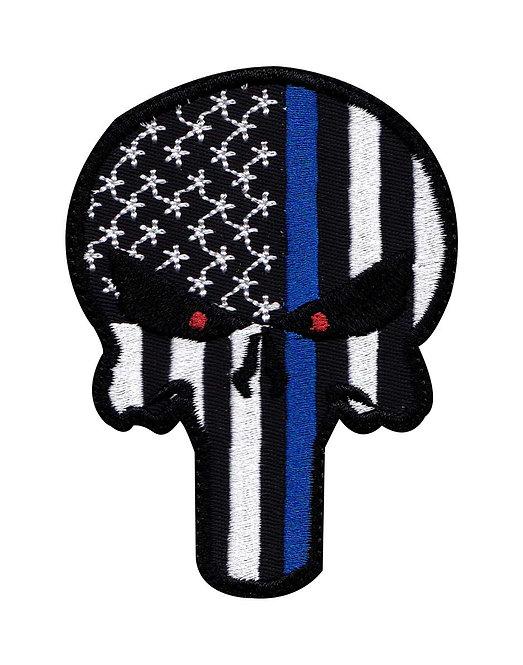 Punisher Skull  Line Flag - Velcro Back