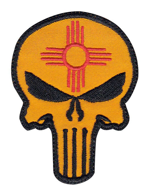 New Mexico Punisher Zia Symbol - Glue Back To Sew On