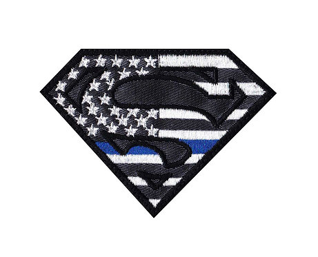Superman US Flag Line - Velcro Back