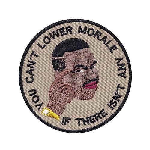 Can't Lower Morale Military Meme - Velcro Back