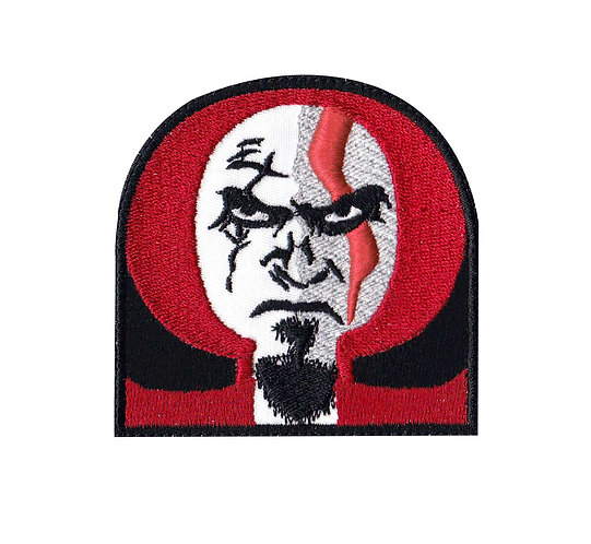 Kratos God Of War Gow Omega - Glue Back To Sew On