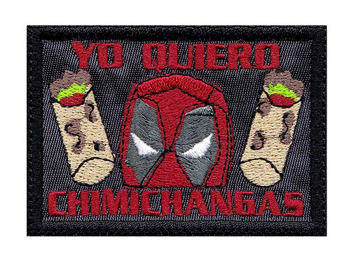 Deadpool Did Someone Say Chimichangas Burrito - Glue Back To Sew On
