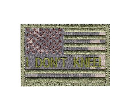I Don't Kneel Us Flag - Velcro Back