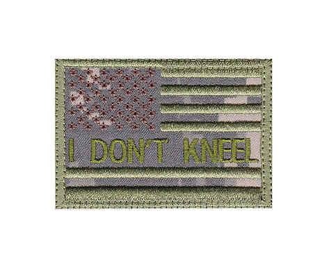 I Don't Kneel Us Flag - Velcro Back