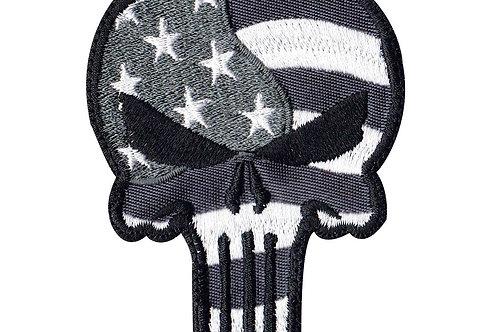 Punisher Skull Waving Flag - Velcro Back