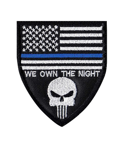 We Own The Night Police Line - Glue Back To Sew On
