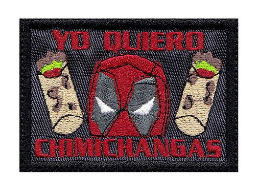 Deadpool Did Someone Say Chimichangas Burrito - Velcro Back