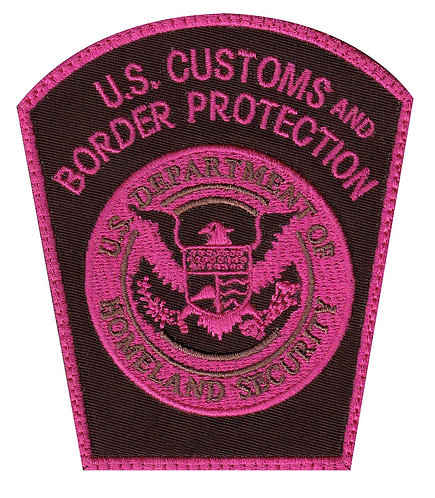 CBP Customs Border Protection Air & Marine Operations Breast Cancer Velcro Back