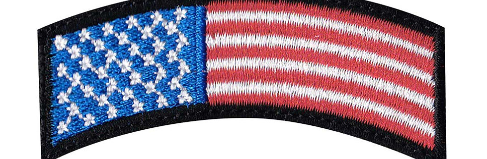 US Flag Rocker - Velcro Back