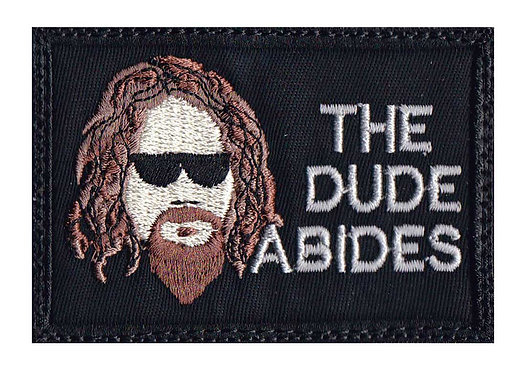 Big Lebowski The Dude Abides - Velcro Back