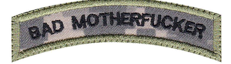 Bad Motherfucker Rocker - Velcro Back