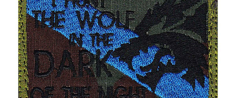 Hunt The Wolf In The Dark Of Night - Velcro Back